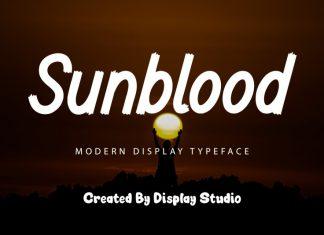 Sunblood Sans Serif Font