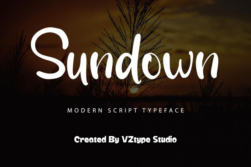 Sundown Script Font
