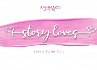 Story Loves Calligraphy Font