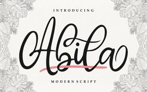 Abila Script Font