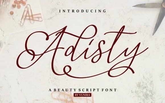 Adisty Script Font