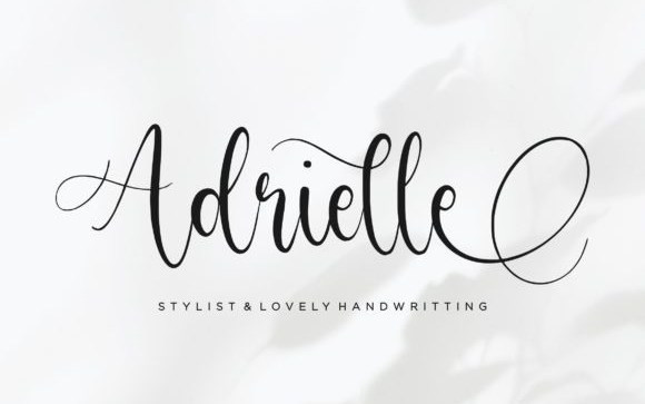 Adrielle Calligraphy Font