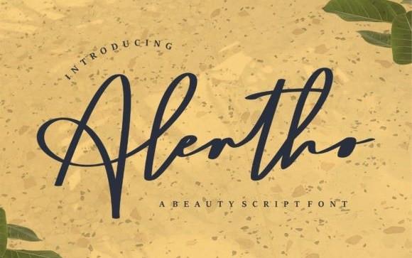 Alertho Script Font