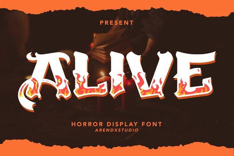 Alive Display Font