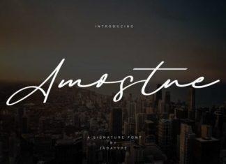 Amostne Script Font
