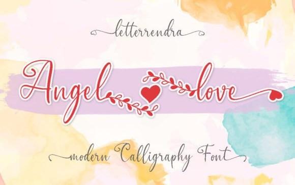 Angel Love Script Font
