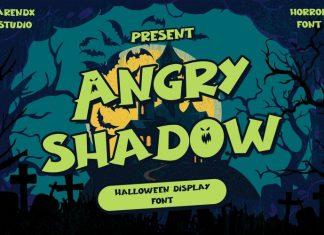 Angry Shadow Display Font