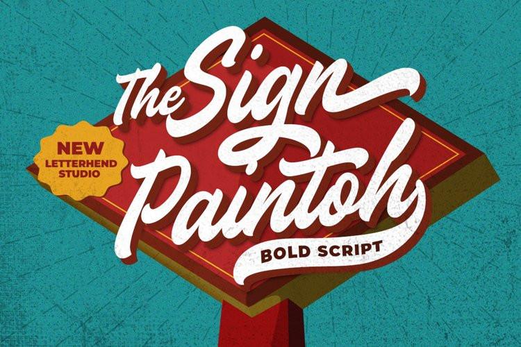 Sign Paintoh Script Font