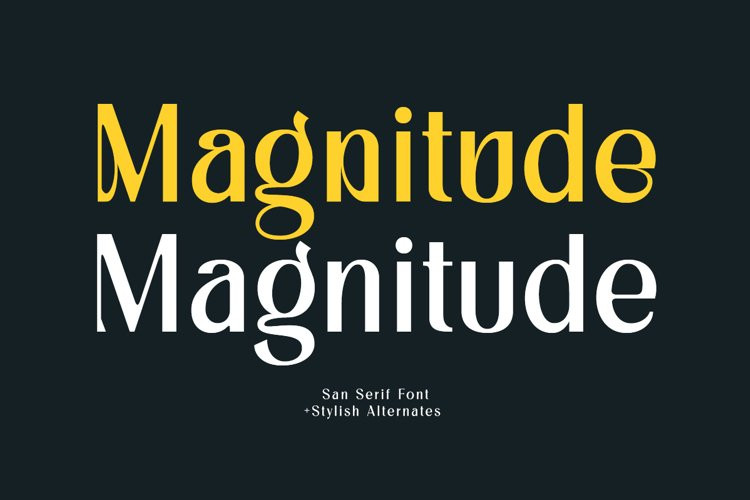 Magnitude Sans Serif Font