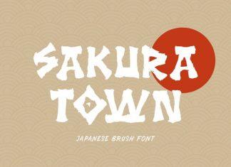 Sakura Town Display Font