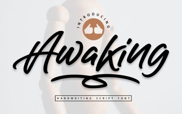 Awaking Script Font