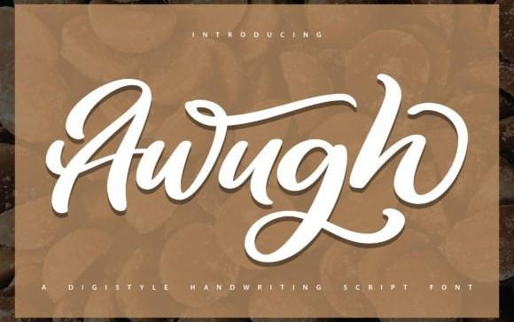 Awugh Script Font