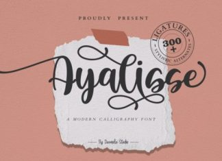 Ayalisse Calligraphy Font