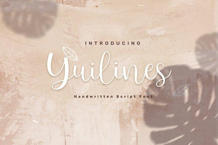 Yuilines Script Font
