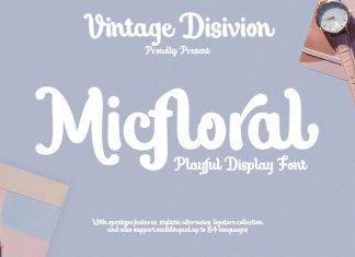 Micfloral Script Font