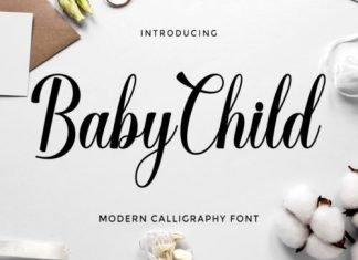 Baby Child Calligraphy Font
