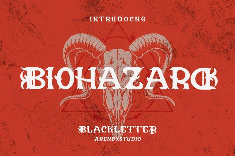 Biohazard Display Font