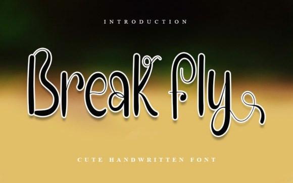 Break Fly Script Font