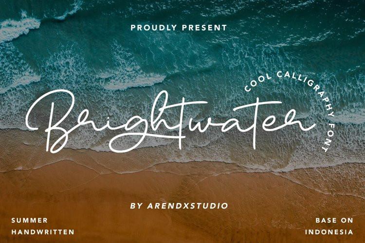 Brightwater Handwritten Font