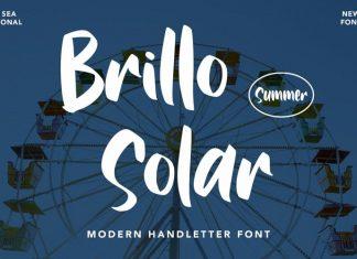 Brillo Solar Brush Font