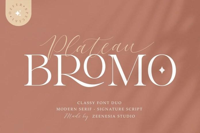 Bromo Plateau Font Duo