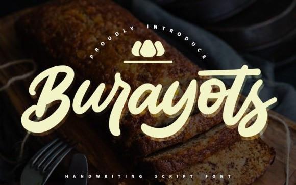 Burayots Script Font