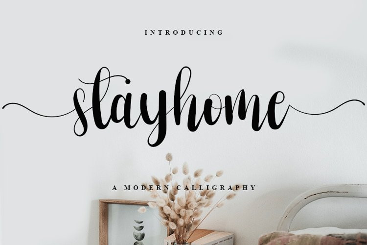Stayhome Calligraphy Font