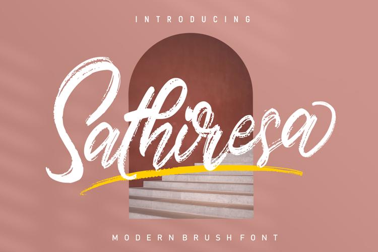 Sathiresa Brush Font