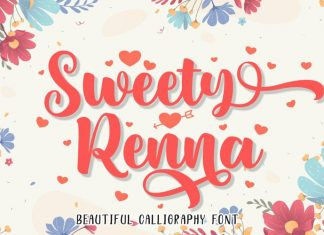 Sweety Renna Calligraphy Font