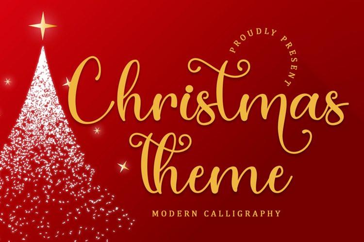 Christmas Theme Calligraphy Font