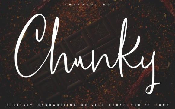 Chunky Script Font
