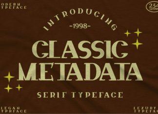 Classic Metadata Font