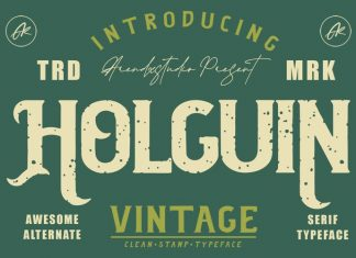 Holguin Display Font