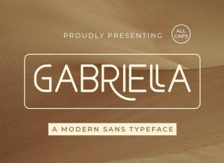 Gabriella Sans Serif Font