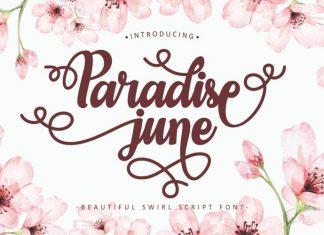 Paradise June Calligraphy Font