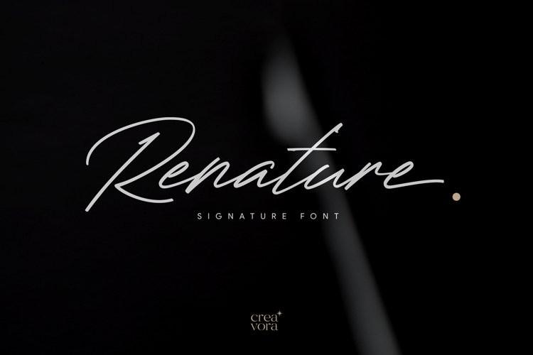 Renature Script Font