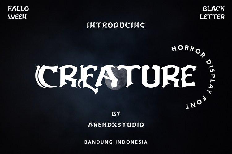Creature Display Font