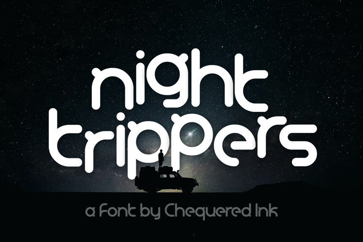 Night Trippers Display Font