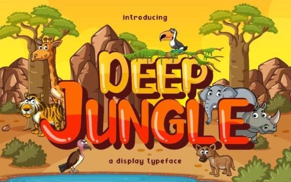 Deep Jungle Display Font