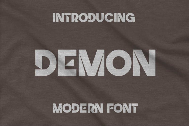 Demon Display Font