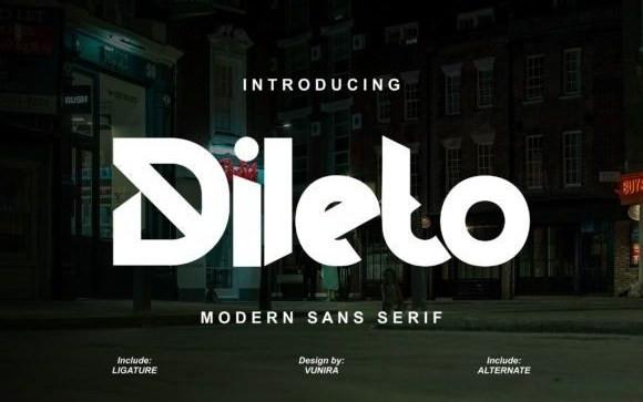 Dileto Display Font