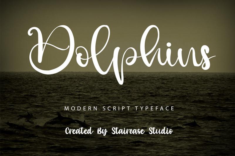 Dolphins Script Font
