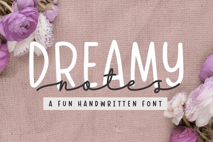 Dreamy Notes Handwritten Font