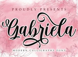Gabriela Calligraphy Font