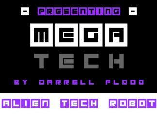 Megatech Display Font