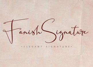 Fanish Signature Script Font