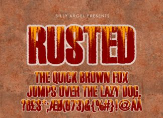 Rusted Display Font