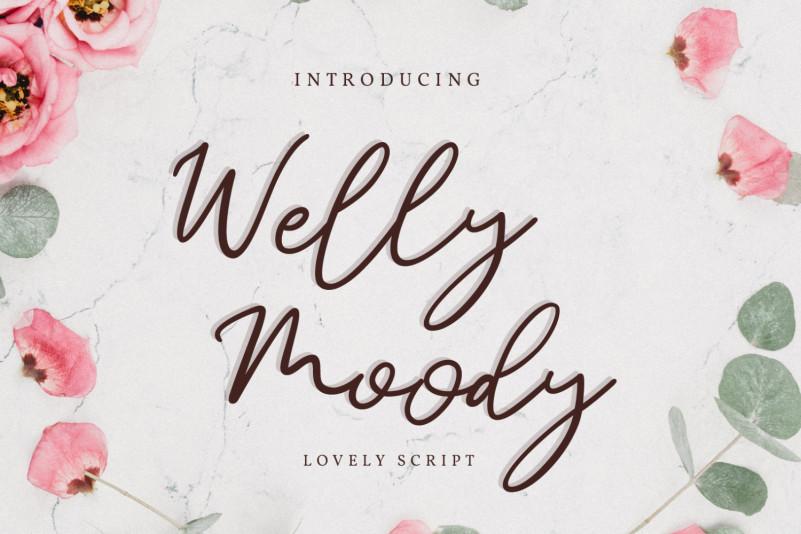 Welly & Moody Handwritten Font
