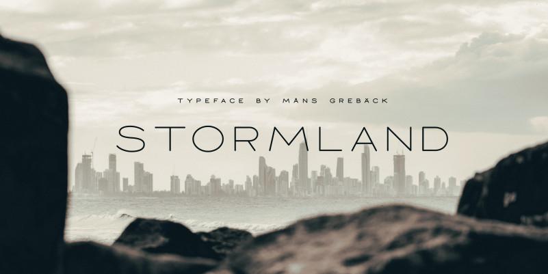Stormland Sans Serif Font