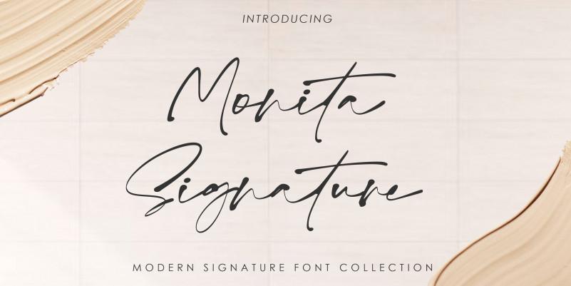 Monita Signature Script Font